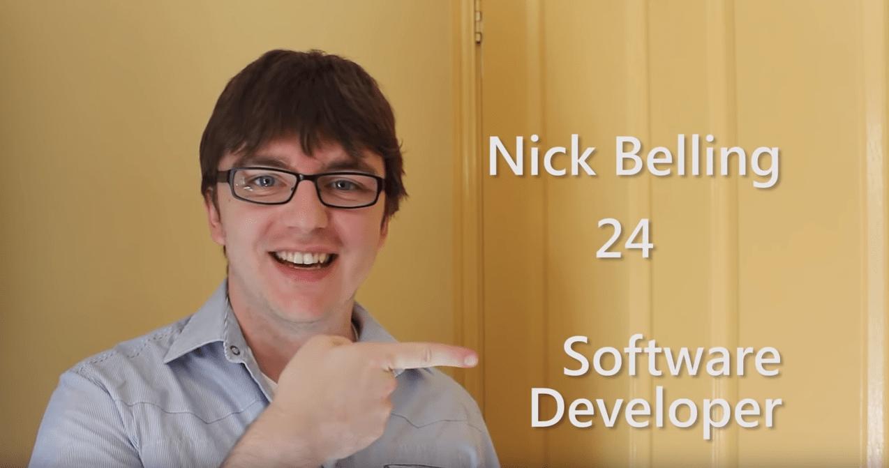 ניק בלניג מהנדס תוכנה סרטון קוח